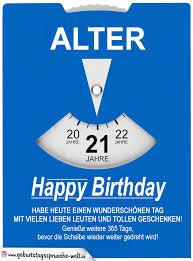 Geburtstagskarte Als Parkscheibe Zum 21 Geburtstag