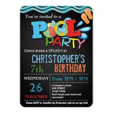 Make Birthday Party Invitations Pool Party Invitations Zazzle