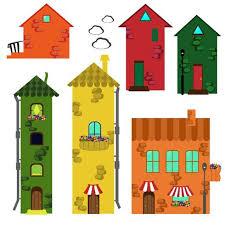 Set Of Cartoon Houses Download Free Vectors Clipart