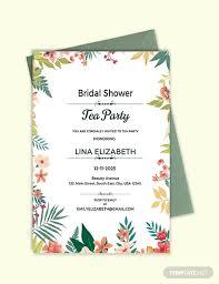 tea party templates free bridal shower tea party invitation templates
