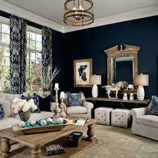 navy blue walls living room navy living room parade of homes transitional living room other metro