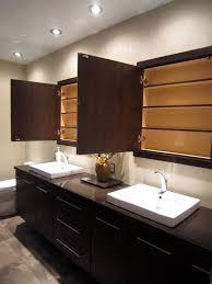 built in bathroom medicine cabinets. Custom And Built-in Medicine Cabinet : Contemporary Luxury Master Bathroom With Recessed Cabinets Built In