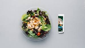 order the bacon ranch grilled en salad and omit the bacon to lower the calories