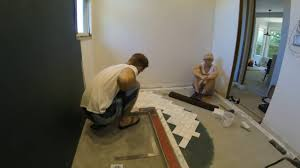 Diy Bathroom Floors Diy Bathroom Marble Herringbone Tile Job Timelapse Youtube