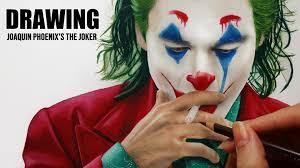 Amazoncom Watch Clip Drawing Joaquin Phoenixs The Joker