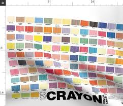 Fabric By The Yard Crayon Color Chart Crayola Crayons Graphic Design Palette