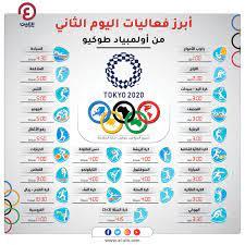 جدول أولمبياد طوكيو 2021.. فعاليات يوم الأحد 25 يوليو والقنوات الناقلة