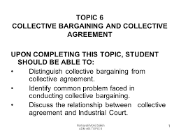 Collective Bargaining Agreement Template Interesting TOPIC 44 COLLECTIVE BARGAINING AND COLLECTIVE AGREEMENT Ppt Video