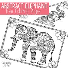 Small Picture Free Elephant Coloring Pages for Adults Easy peasy Adult