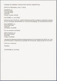 Write A Letter To Postmaster About Change Of Address