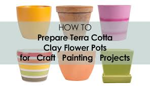 how to paint on terra cotta clay pots
