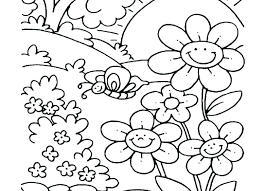 Flower Garden Coloring Pages Printable Colouring Page For Adults
