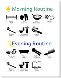 Printable Routine Chart For Kids Life Your Way