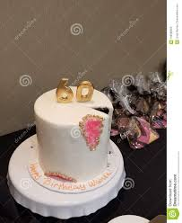 Happy 60th Birthday Cake Stock Image Image Of Cake 108590625