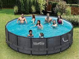 summer waves elite wicker print pool
