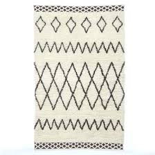 rug ivory moroccan pattern navy