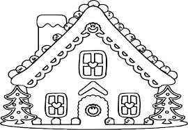 Gingerbread House Coloring Page Mikalhameed Com Incredible Design