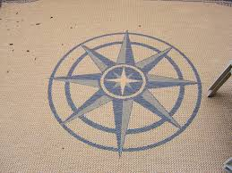 tropical area rugs nautical outdoor compass rug hawaiian round coffee tables palm leaf coastal for homes living accent design style room blue decor cottage