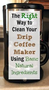 clean water and a clean coffee maker are essential to a successful home brewing experience