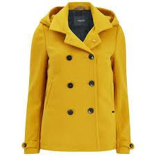 maison scotch women s wool peacoat yellow image 1