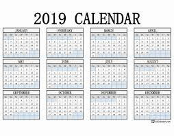 2019 Calendar Printable By Month 2019 Printable Calendar 123calendars Com