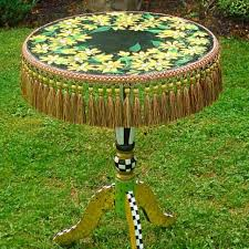 whimsical painted furnitureBuy a Hand Made Whimsical Painted Table Pedestal Table Painted