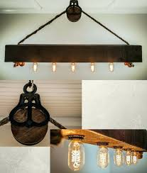 edison bulb kitchen lighting light fixture over kitchen table new rustic wood beam chandelier with bulbs rope and pulley home theater ideas diy home
