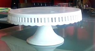 milk glass cake stand white cakes mosser mil