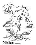 Small Picture USA Printables State of Michigan Coloring Pages Michigan