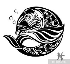 Nálepka Znamení Zvěrokruhu Ryby Tetování Design Pixerstick