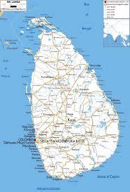 Large Detailed Road Map Of Sri Lanka Sri Lanka Large