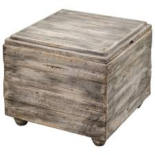 waco rustic lodge wood cube end table  kathy kuo home
