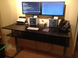 Perfect Ikea Standing Desk Galant With Monitor On Ideas