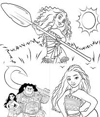 Moana, disney's new instant classic, is getting lots of play. Moana Coloring Pages Draw Templates And Images To Print
