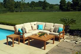 outdoor teak chairs. Three Birds Casual 6 Pc Monterey Teak Sectional Set Outdoor Chairs