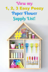 Buy Paper Flower Make Your Own Paper Flowers Paper Flower Making Supply List