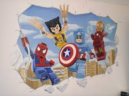 Marvel Superhero Bedroom Lego Marvel Superhero Wall Mural By Wwwcustommuralscouk