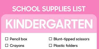 Kindergarten Classroom Supply List For Teachers Homeshealth Info