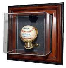 caseworks n a n a wall mountable baseball display case wood cast display