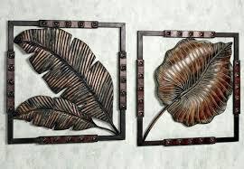 leaf metal wall decor stunning metal art wall decor with tropical leaf ideas palm leaf metal