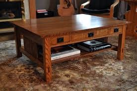 Craftsman Style Coffee Table Mission Coffee Table Design Arts And Crafts Coffee Table Oak