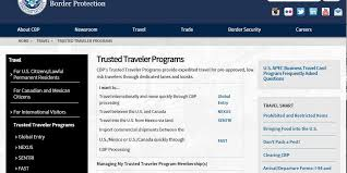 trusted traveler agreement with canada