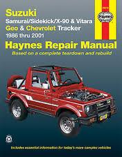 chevy tracker repair manual haynes 90010 repair manual suzuki geo chevrolet tracker 1986 thru 2001 fits