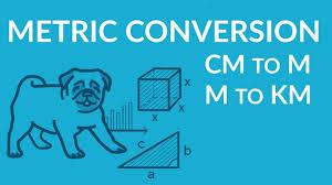 Metric Units Conversion Basics Cm To M M To Km And Simplify