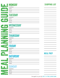 Meal Prep Chart Meal Planning Grocery Shopping And Food Prepping For The