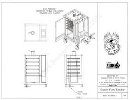 gravity feed cabinet style smoker