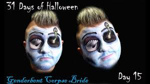 genderbent corpse bride makeup tutorial 31 days of day 15 second video of the day is a genderbent corpse bride i really enjo creating this