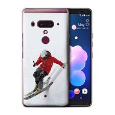 Htc Sports And Design Stuff4 Phone Case Cover For Htc U12 Plus Slope Skiing Design Skiing Snowboarding Collection