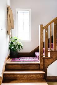 vintage diy stair runner