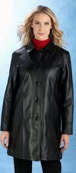 las leather like coat